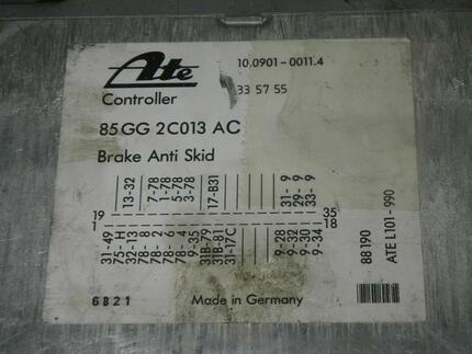 Abs Control Unit FORD SCORPIO I (GAE, GGE) - Image 2