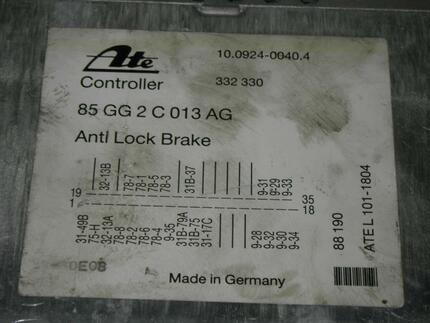 Abs Control Unit FORD SCORPIO I Stufenheck (GGE) - Image 2